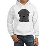 Fun Black Lab Dog Hooded Sweatshirt
