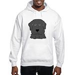 Fun Black Lab Dog Hooded Sweatshirt