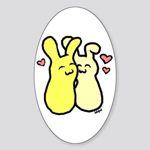 Luv Buns Oval Sticker