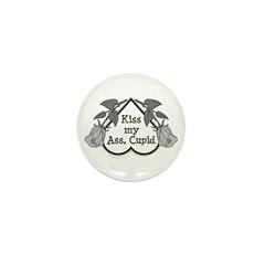 Anti-Cupid Mini Button (10 pack)