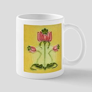 Mission Style Rose Art Tile Coffee Mug