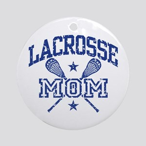 Lacrosse Mom Round Ornament