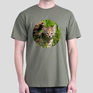 Fractalius Bobcat Kitten Dark T-Shirt