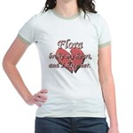 Flora broke my heart and I hate her Jr. Ringer T-S