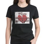Flora broke my heart and I hate her Women's Dark T