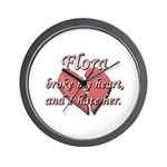 Flora broke my heart and I hate her Wall Clock
