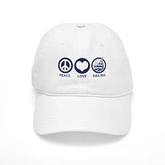 Peace Love Sailing Baseball Cap