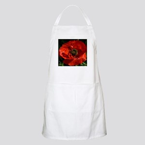 Vibrant Red Poppy Light Apron