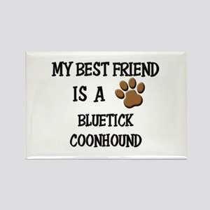 My best friend is a BLUETICK COONHOUND Rectangle M