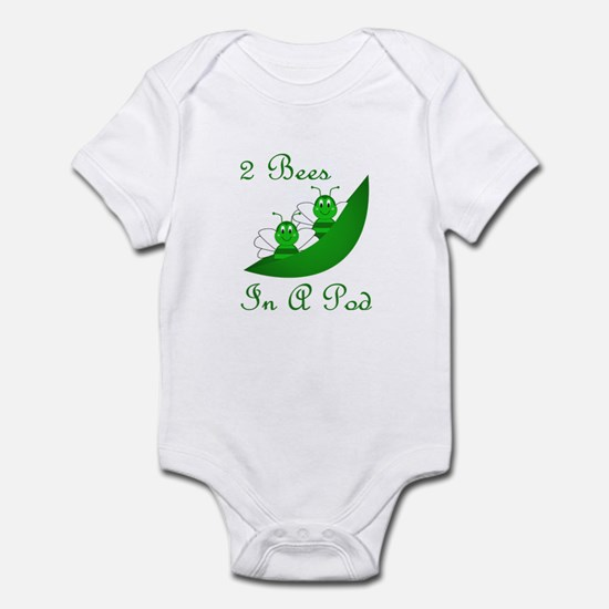 Two Bees In A Pod Infant Bodysuit