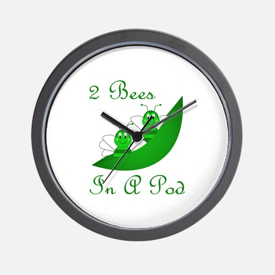 Two Bees In A Pod Wall Clock