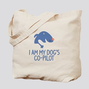 I Am My Dog's Co-Pilot Tote Bag