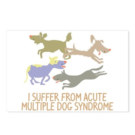 Acute Multiple Dog Syndrome Postcards (Package of