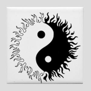 Ying yang Tile Coaster