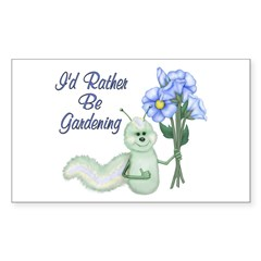 Gardening Caterpillar Rectangle Decal