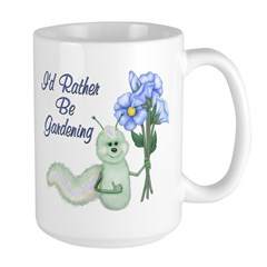 Gardening Caterpillar Large Mug