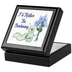 Gardening Caterpillar Keepsake Box