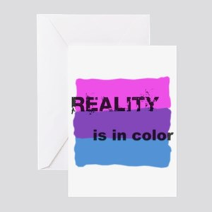 Reality is in Color (Bi) Greeting Cards (Package o