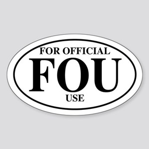 For Official Use Oval Sticker