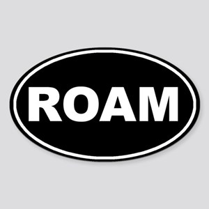 Roam Black Oval Oval Sticker