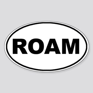 Roam Oval Oval Sticker