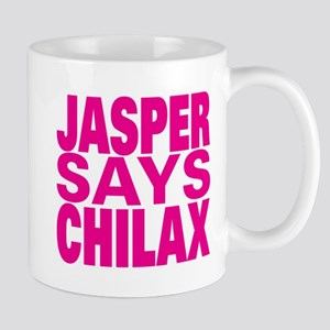 Jasper Says Chilax (pink) Mug