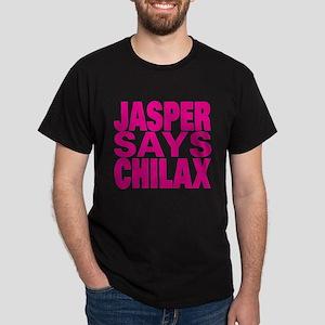 Jasper Says Chilax (pink) Dark T-Shirt