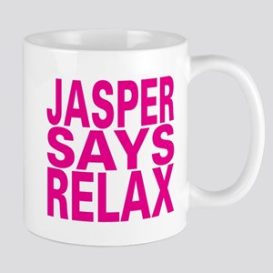 Jasper Says Relax (pink) Mug