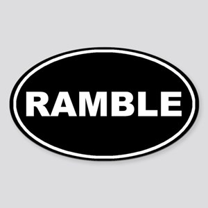 Ramble Black Oval Oval Sticker