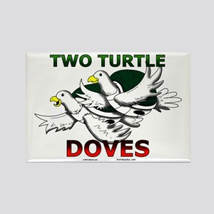 Two Turtle Doves Rectangle Magnet