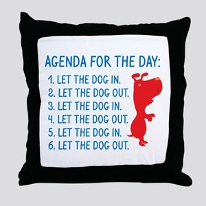 Agenda For The Day Throw Pillow