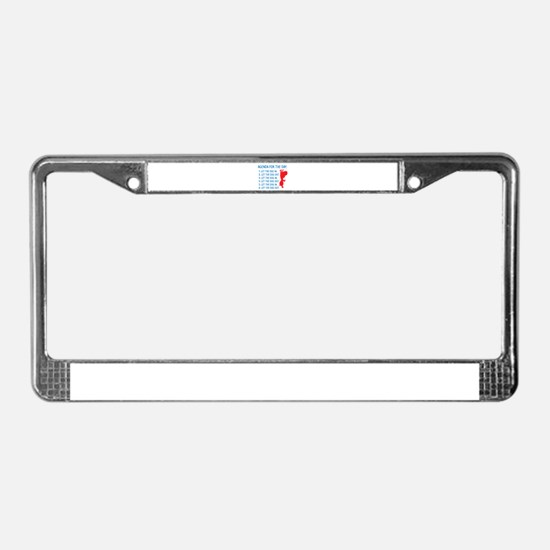 Agenda For The Day License Plate Frame