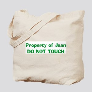 Property of Jean DO NOT TOUC Tote Bag