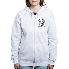 Koala (Black) Women's Zip Hoodie