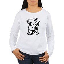 Koala (Black) Women's Long Sleeve T-Shirt