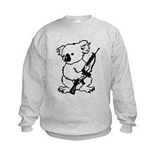 Koala (Black) Kids Sweatshirt