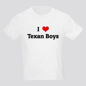 I Love Texan Boys Kids Light T-Shirt