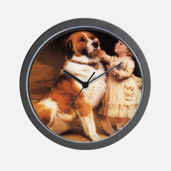 Trust by Charles Burton Barber Wall Clock