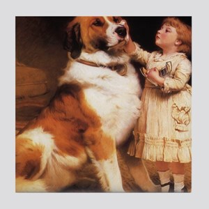 Trust by Charles Burton Barber Tile Coaster