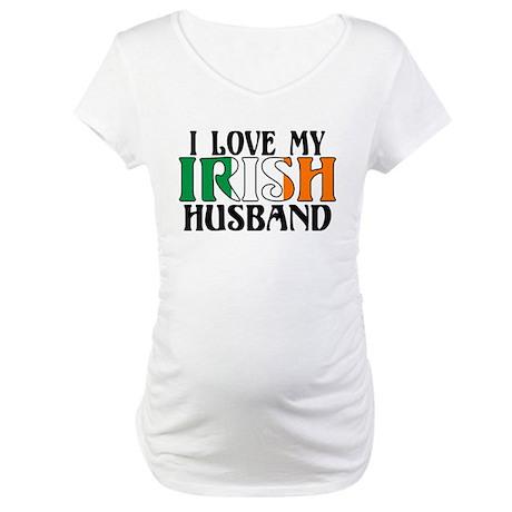 I Love My Irish Husband Maternity T-Shirt