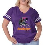 Discdogger Women's Plus Size Football T-Shirt