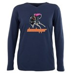 Discdogger Plus Size Long Sleeve Tee T-Shirt