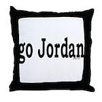 go Jordan Throw Pillow