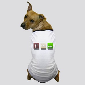 Eat, Sleep, Golf Dog T-Shirt