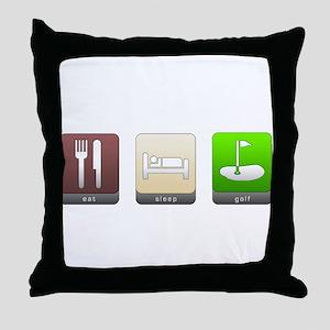 Eat, Sleep, Golf Throw Pillow