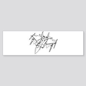 Trombone Jet Light Bumper Sticker