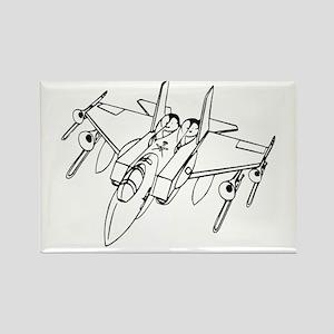 Trombone Jet Light Rectangle Magnet