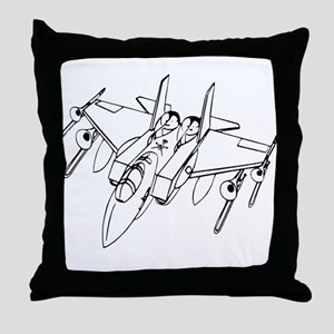 Trombone Jet Light Throw Pillow