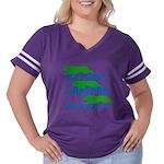 WazgearLayer Women's Plus Size Football T-Shirt