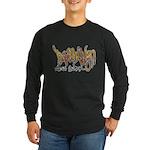 Brooklyn Graffiti Long Sleeve Dark T-Shirt